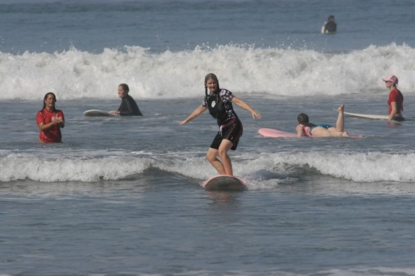 Women surfing Costa Rica