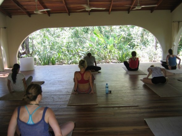 Local yoga studio extra yoga sessions would be at your own expense